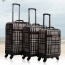 Vintage Rolling Luggage On Wheels Image 1