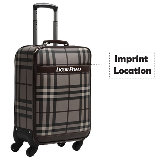 Vintage Rolling Luggage On Wheels Imprint Image