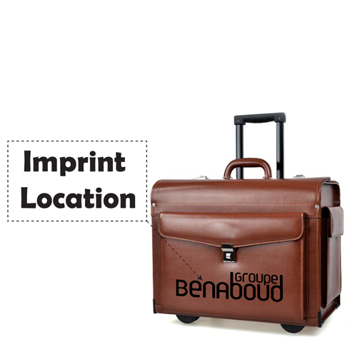 Captain Dedicated Rolling Luggage Imprint Image