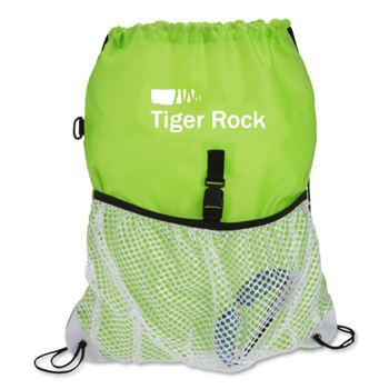 Drawcord Mesh Pocket Drawstring Bag