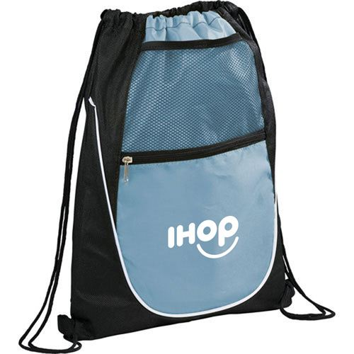Net Pocket Zipper Drawstring Backpack Image 1