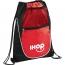 Net Pocket Zipper Personalized Drawstring Backpack