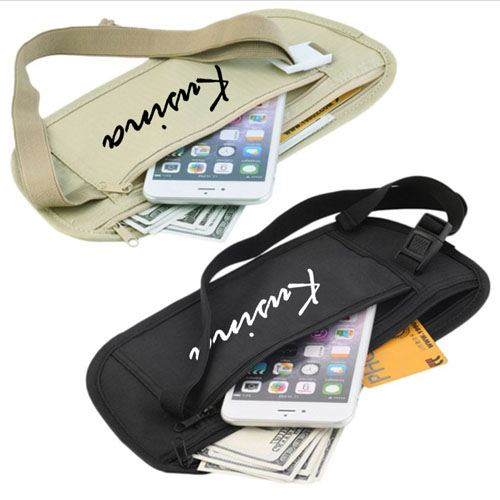 Slim Men Women Waist Belt Sport Bag