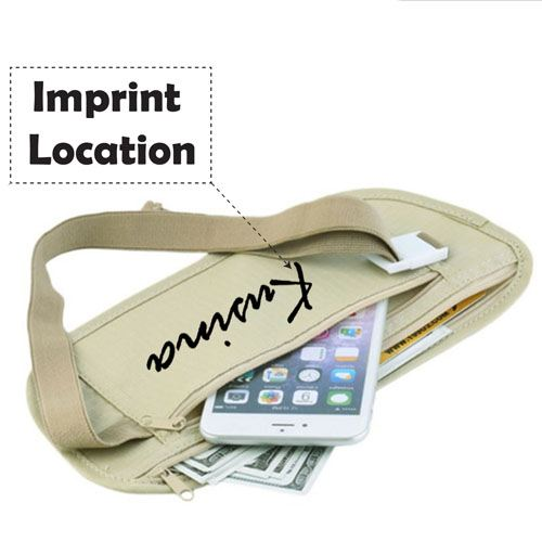 Slim Men Women Waist Belt Sport Bag Imprint Image