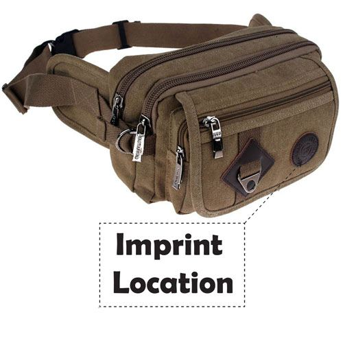 Casual Messenger Waist Bag Imprint Image