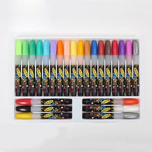 Nontoxic 24 Colors Washable Watercolor Pens Image 1