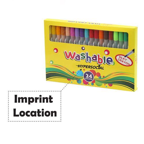 Nontoxic 24 Colors Washable Watercolor Pens Imprint Image