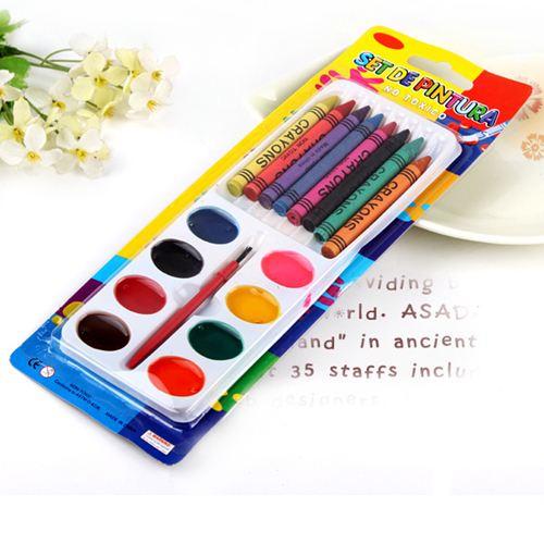 Children 8 Color Watercolor Crayons