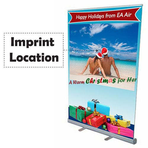 Retractable Banner 57 Inch Stand Imprint Image