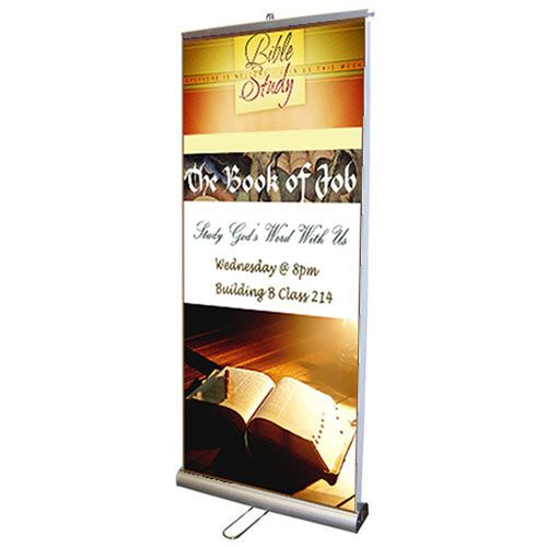 Double Sided Retractable Roll Up 33 Inch Banner Stand