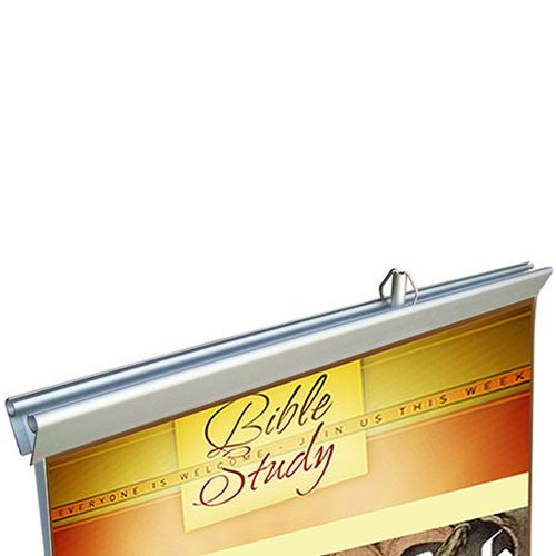 Double Sided Retractable Roll Up 33 Inch Banner Stand Image 2