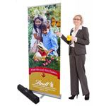 Eco Stand with Non Curl Graphics Roller Banner Stand