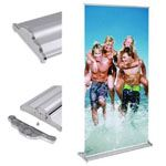 Portable Aluminum Silver Roll Up Banner Stand
