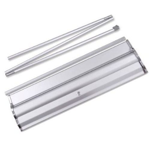 Portable Aluminum Silver Roll Up Banner Stand Image 2