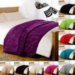 Black Plain Fleece Sofa Beds Blanket