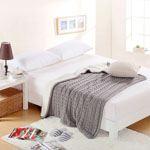 Solid Plaids Manta Cotton Blankets