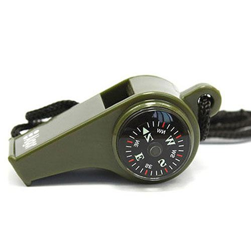 Three in One Compass Thermometer Survival Whistle Image 5