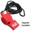 Professional Outdoor Whistle with Rope Imprint Image