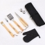 BBQ Set Apron Fork Glove Knives Tongs