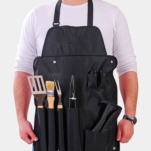 BBQ Set Apron Fork Glove Knives Tongs  Image 4