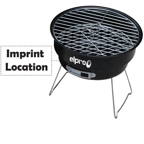 Outdoor Couple Barbecue Brazier Imprint Image