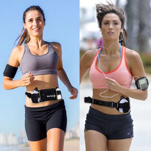Dual Water Bottle Travel Waist Belt Image 1
