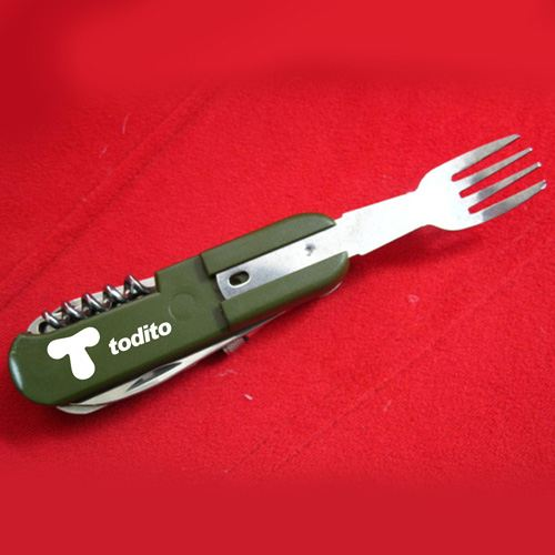 Folding Knife Fork Spoon Bottle Opener  Image 2