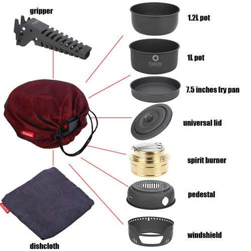 Portable Outdoor Camping Cookware Image 3