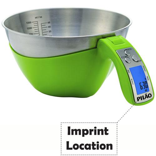 Kitchen Scale Black Measuring 1500ml  Imprint Image