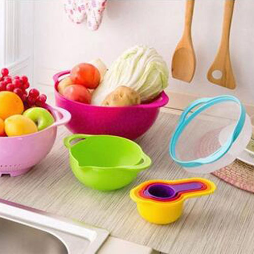 Multicolor 8 Piece Kitchen Bowl Image 2