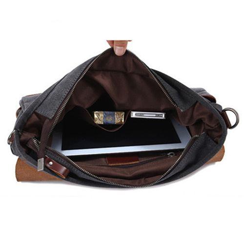 Canvas Briefcase Bag Image 3