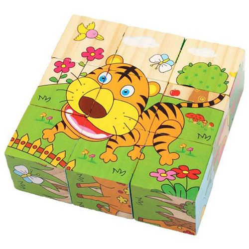 Cartoon Animal Wooden Puzzle for Children