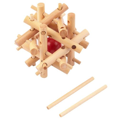 Lock Ball IQ Wooden Puzzle