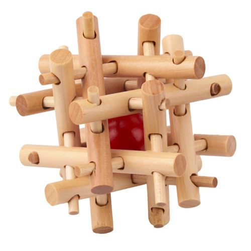 Lock Ball IQ Wooden Puzzle Image 1
