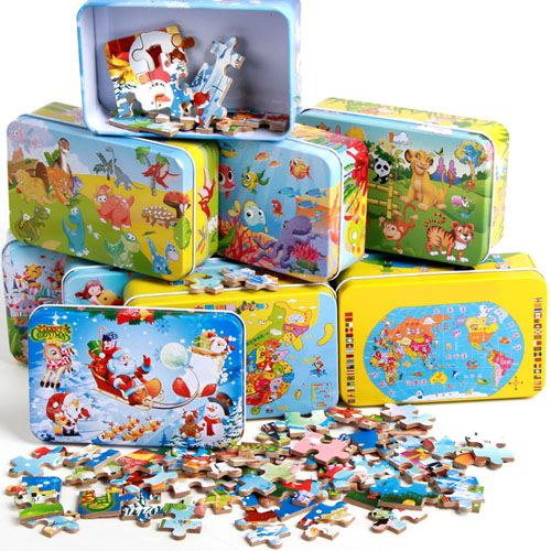 Cartoon Wooden 60 Piece Puzzle Toys Image 3