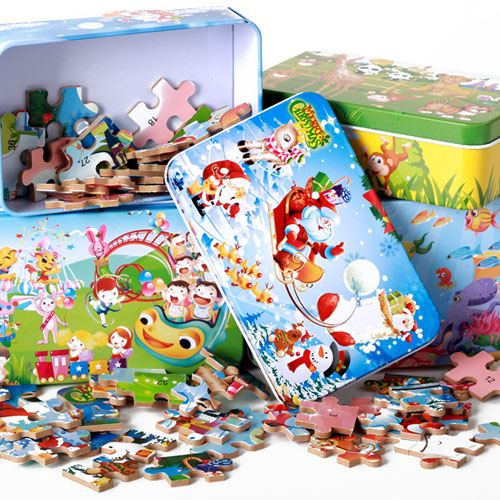 Cartoon Wooden 60 Piece Puzzle Toys Image 4