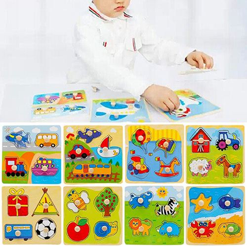 Wooden Toy Bricks Intelligence Puzzle