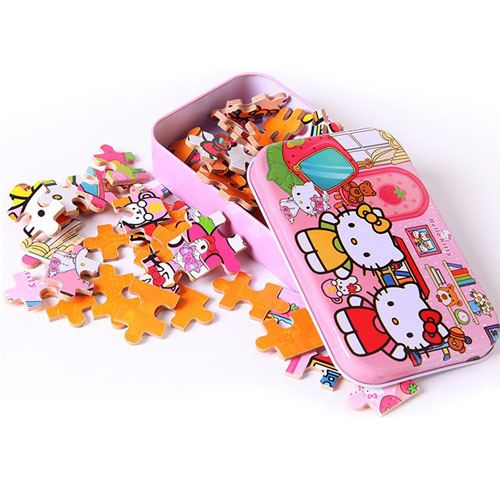 Wooden 3D Cartoon Puzzle with Iron Package Image 4