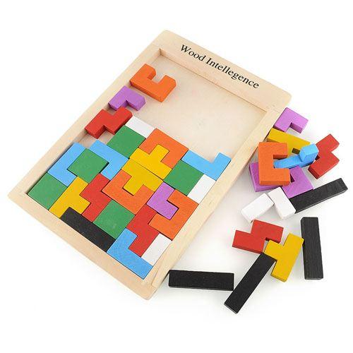 Tangram Wood Brain Teaser Puzzle Image 1