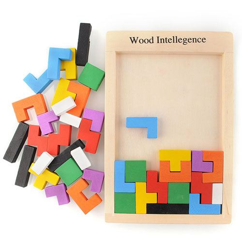 Tangram Wood Brain Teaser Puzzle Image 2