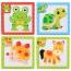 Children 3 Pieces 3D Wooden Cartoon Animal Puzzles Image 3