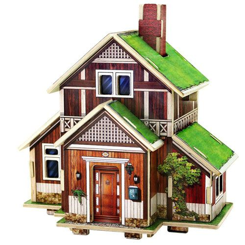 Three Dimensional Assembling Diy Diy Wooden Puzzle Image 1