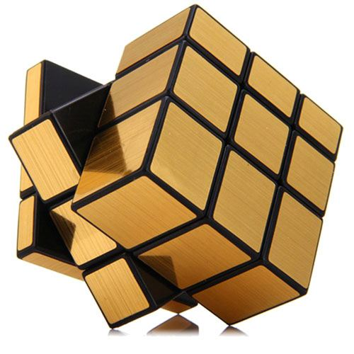 Golden Mirror Magic Cube Puzzle for Children Image 3