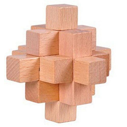 Mind Brain Logic 4 Pieces Wooden IQ Puzzle Image 1