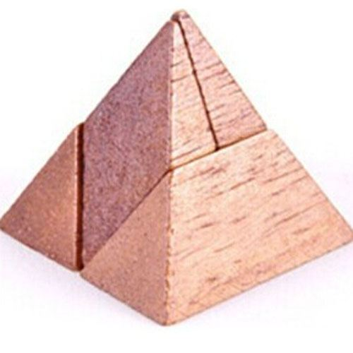 Mind Brain Logic 4 Pieces Wooden IQ Puzzle Image 2