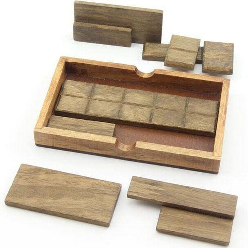Mind Brain Logic 4 Pieces Wooden IQ Puzzle Image 4