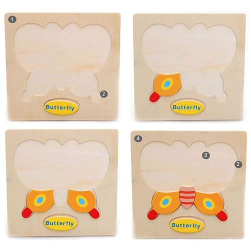 Casual Styles Wooden Kids Animal Puzzles Image 1