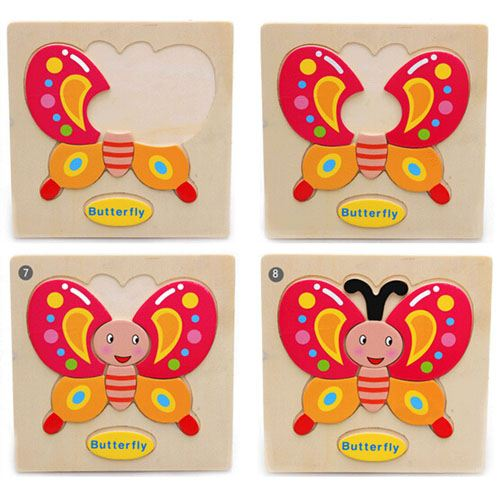 Casual Styles Wooden Kids Animal Puzzles Image 2
