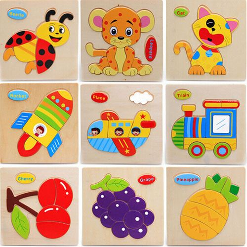 Casual Styles Wooden Kids Animal Puzzles Image 5