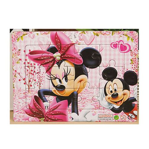 Cartoon Mickey Minnie 24 Style Wooden Puzzles Image 1